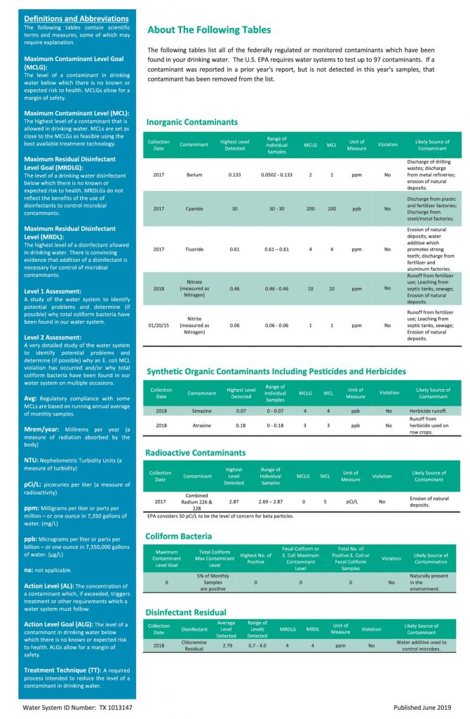 WCID #156 Annual Consumer Confidence Report - Page 2