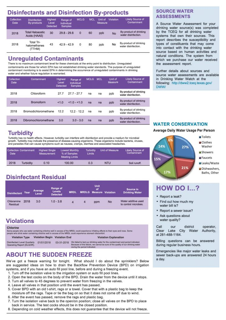WCID #161 Annual Consumer Confidence Report - Page 3