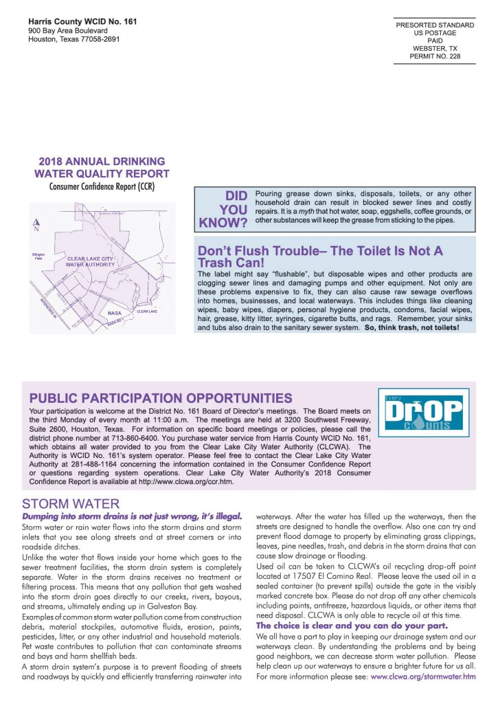 WCID #161 Annual Consumer Confidence Report - Page 4