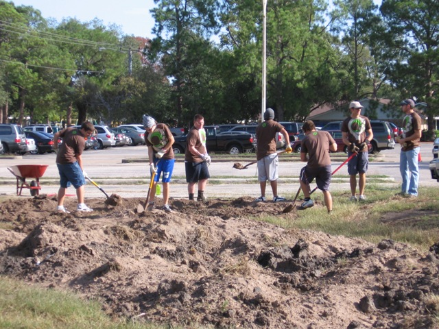 Local Church Organized a CLCWA Storm Water Detention and Drainage Area Clean-up Day